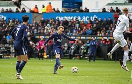 """Eriksen lập cú đúp, Tottenham bẻ cánh """"thiên nga"""" Swansea để vào bán kết FA Cup"""