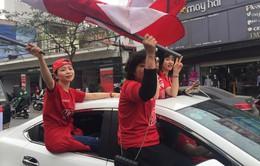 CĐV Hải Phòng diễu hành tưng bừng trước trận CLB Hải Phòng đón tiếp Hoàng Anh Gia Lai