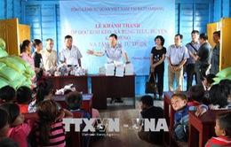 Khánh thành trường học nổi cho con em Việt kiều trên Biển Hồ tại Campuchia