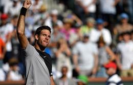 Thắng kịch tính Federer, Del Potro vô địch Indian Wells 2018