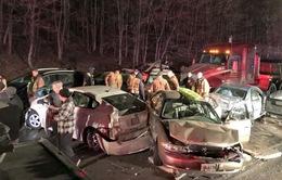 Mỹ: Tai nạn liên hoàn giữa 18 xe trên đường cao tốc