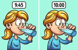 7 thời điểm nên tránh uống nước triệt để
