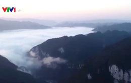 Ngắm biển mây tuyệt đẹp tại Trung Quốc