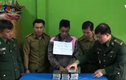 Nghệ An: Bắt đối tượng người Lào vận chuyển 10 bánh ma túy