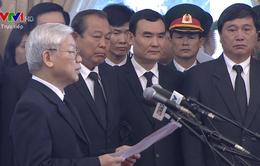 Tổng Bí thư xúc động đọc lời Điếu truy điệu nguyên Thủ tướng Phan Văn Khải