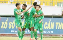 Vòng 3 Nuti Café V.League 2018: XSKT Cần Thơ 2-1 Becamex Bình Dương
