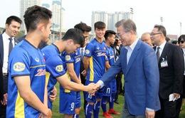 Tổng thống Hàn Quốc thăm và giao lưu với ĐT U23 QG Việt Nam