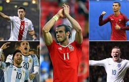 Ronaldo, Messi, Bale và các cây săn bàn số 1 của những ĐTQG hàng đầu thế giới