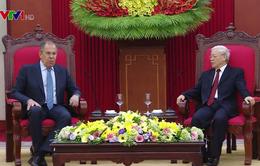 Tổng Bí thư Nguyễn Phú Trọng tiếp Bộ trưởng Bộ Ngoại giao Nga
