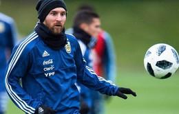 Messi lập siêu phẩm solo trên sân tập của ĐT Argentina trước 2 cuộc đại chiến