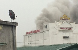 Tạm thời khống chế được đám cháy tại Karaoke Kingdom Hà Tĩnh