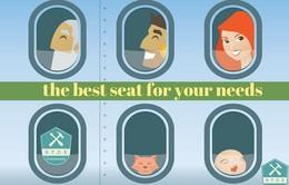 Cách chọn chỗ tốt để không bị mệt khi đi máy bay