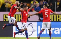 Kết quả bóng đá quốc tế: Sanchez tịt ngòi, Chile thắng kịch tính