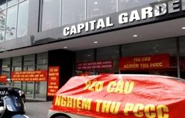 Cư dân chung cư Capital Garden, Hà Nội biểu tình đòi nghiệm thu phòng cháy chữa cháy