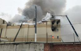 Vụ cháy trung tâm thương mại ở Nga: Nguyên nhân do bất cẩn