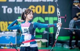 Mỹ nhân Hàn Quốc đọ tài bắn cung