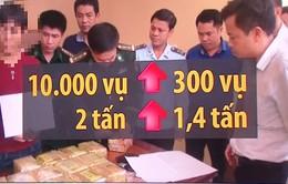 Buôn bán vận chuyển ma túy: Tăng mạnh về khối lượng
