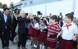 Tổng Bí Thư Nguyễn Phú Trọng thăm trường Tiểu học Võ Thị Thắng tại Cuba