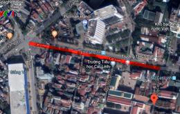 Phân luồng giao thông để thi công ga ngầm Cát Linh