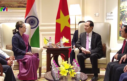 Chủ tịch nước Trần Đại Quang tiếp nguyên Chủ tịch Đảng Quốc đại Ấn Độ