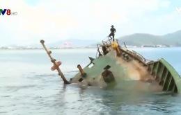 Triển khai trục vớt các tàu chìm tại vùng biển Quy Nhơn