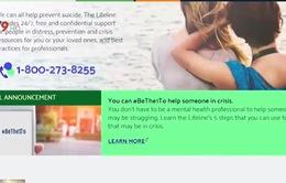 Mỹ lập đường dây nóng mới để ngăn tình trạng tự sát