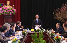 Trưởng ban Tuyên giáo Trung ương thăm, làm việc với Báo Nhân Dân
