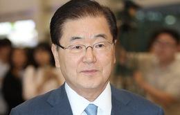 Phái viên Hàn Quốc tới Mỹ thông báo kết quả chuyến thăm Triều Tiên