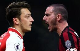 Lịch trực tiếp bóng đá Europa League rạng sáng mai (9/3): Arsenal làm khách của AC Milan