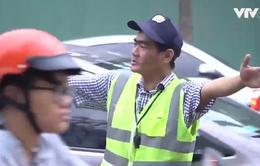 """Phân luồng giao thông tại điểm """"nóng"""" - Niềm vui của anh thợ sửa xe"""