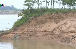 Sạt lở đất nghiêm trọng ở Thanh Hóa do khai thác cát trái phép