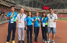 Điền kinh Việt Nam giành 5 HCV, 1 HCB tại giải Singapore mở rộng 2018