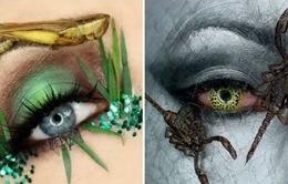 Cô gái trang điểm bằng côn trùng