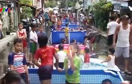 Bữa tiệc nước đường phố ở Philippines