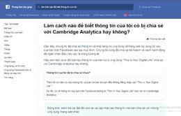 Bạn đã kiểm tra xem Facebook của mình có bị rò rỉ dữ liệu hay không?