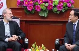 Chủ tịch Ủy ban Trung ương MTTQ Việt Nam tiếp Chủ tịch Quốc hội Iran