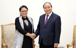 Thủ tướng Nguyễn Xuân Phúc tiếp Bộ trưởng Bộ Ngoại giao Indonesia