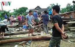 Hơn 200 ngôi nhà ở Mù Cang Chải, Yên Bái bị tốc mái do mưa lốc
