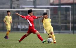 Chuẩn bị cho U16 nữ ĐNA 2018: ĐT U16 nữ QG đấu tập với U13 nam Hà Nội
