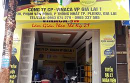 Đang bị điều tra, Công ty Vinaca vẫn mở văn phòng chi nhánh tại Gia Lai