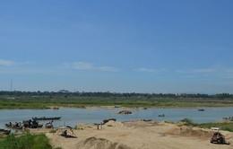 Nóng tình trạng khai thác cát trên sông Trà Khúc, Quảng Ngãi