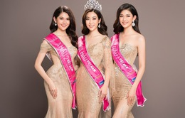 Hoa hậu Mỹ Linh kiêu sa đọ dáng bên hai Á hậu Thanh Tú và Thùy Dung