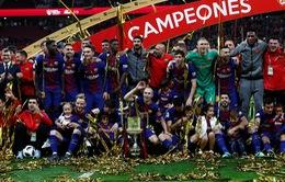 Kết quả bóng đá châu Âu rạng sáng 22/4: Barcelona đăng quang cúp Nhà vua, Man Utd thẳng tiến chung kết cúp FA