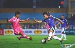 ẢNH: Hoà CLB Sài Gòn, CLB Hà Nội duy trì ngôi đầu bảng