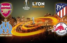 Lịch thi đấu bán kết lượt đi Europa League: Arsenal – Atletico, Marseille – Salzburg