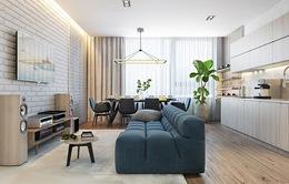 Ngôi nhà một phòng ngủ trang trí bằng gỗ ấm áp