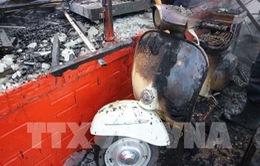 Hỏa hoạn thiêu rụi quán cà phê xe cổ ở hồ Tuyền Lâm, Đà Lạt