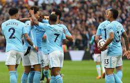 "Đè bẹp West Ham, Man City lập kỷ lục ""vô tiền, khoáng hậu"" tại Premier League"