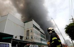 Cháy lớn tại nhà máy ở Đài Loan (Trung Quốc), 7 người thiệt mạng
