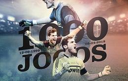 Iker Casillas cán mốc 1000 trận thi đấu chuyên nghiệp